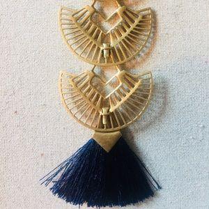 Deco Stella and Dot tassel fringe Necklace